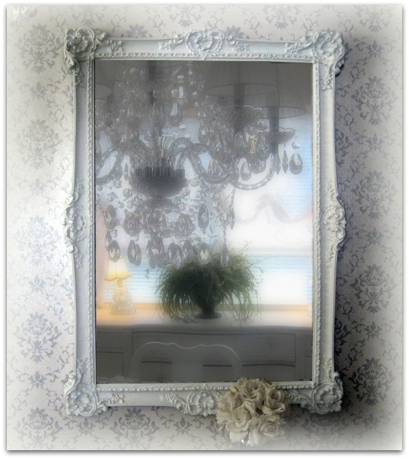 Large Ornate White Mirror Shabby Chic Framed Mirror | Shabby chic ...