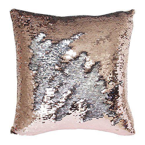 Sequin Pillow Rose Gold Sequin Mermaid