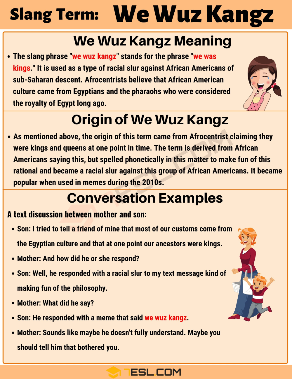 We Wuz Kangz Meaning With Useful Conversations In English 7 E S L Conversational English Learn English English Phrases
