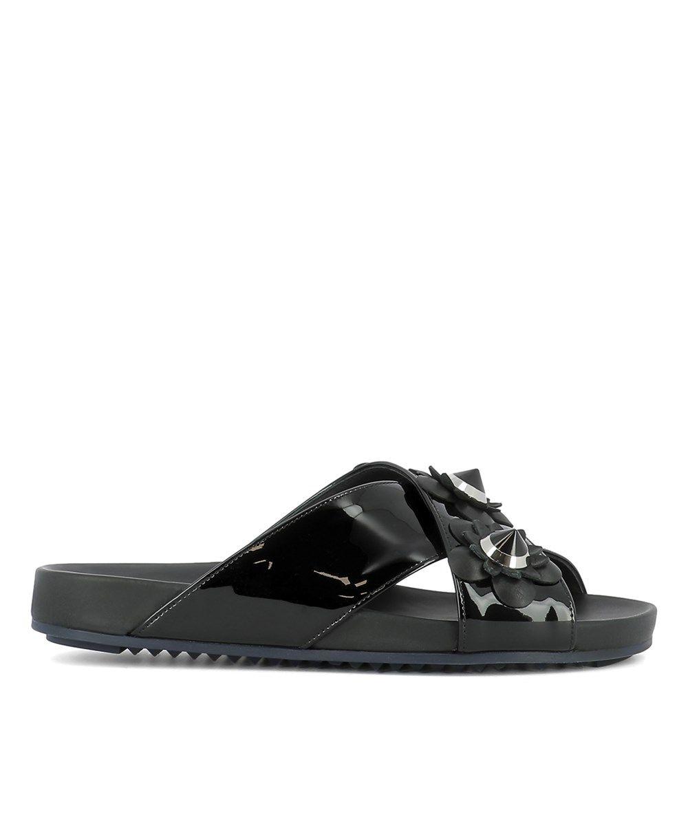cbaf84c0b FENDI Fendi Women S Black Leather Flip Flops .  fendi  shoes  sandals