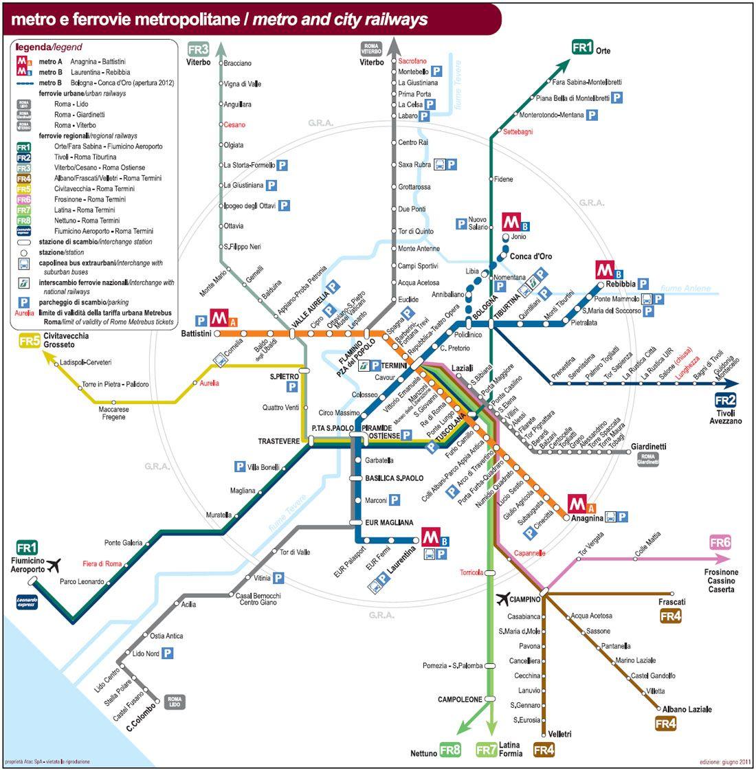 Comment Se Dplacer Rome Mtro Bus Plans Des Transports En Commun Rejoindre Les Aroports Informations Pratiques Visiter