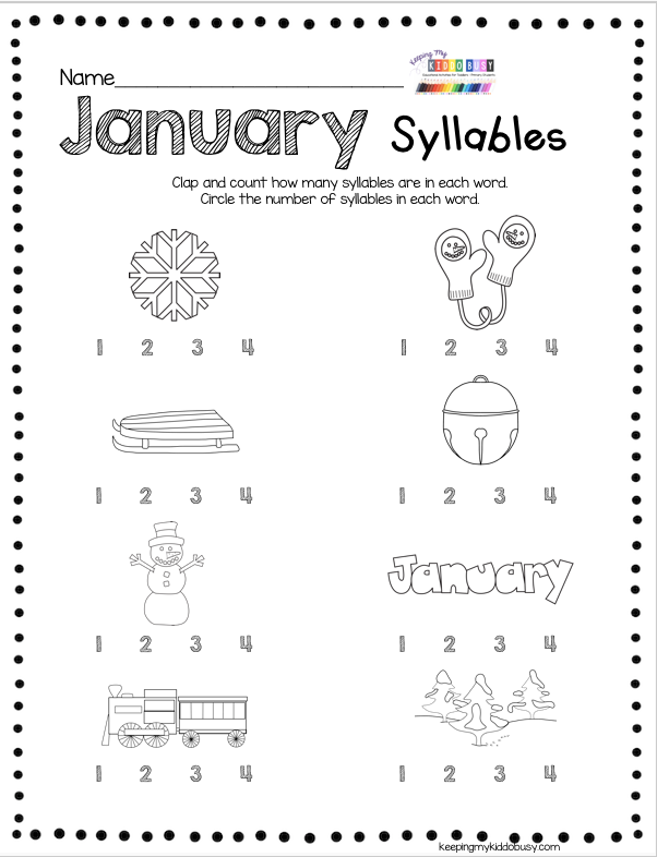 Photo of FREEBIES Kindergarten January Printables – Activities – Worksheets – Centers Reading and Math