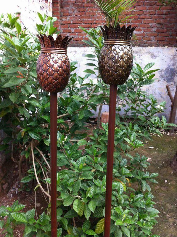 Pineapple Tiki Torch Tropical Backyard Home Landscaping