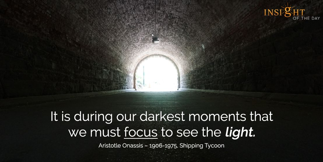Motivational Quote by Aristotle Onassis Daily Quote Of
