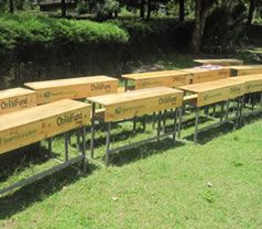 The gift of #school desks makes studying easier. Your gift of school desks will help brighten the lives of struggling students in Uganda. So many children are eager to learn, but crowded #classroom conditions in many #schools make it difficult. $1,050.00
