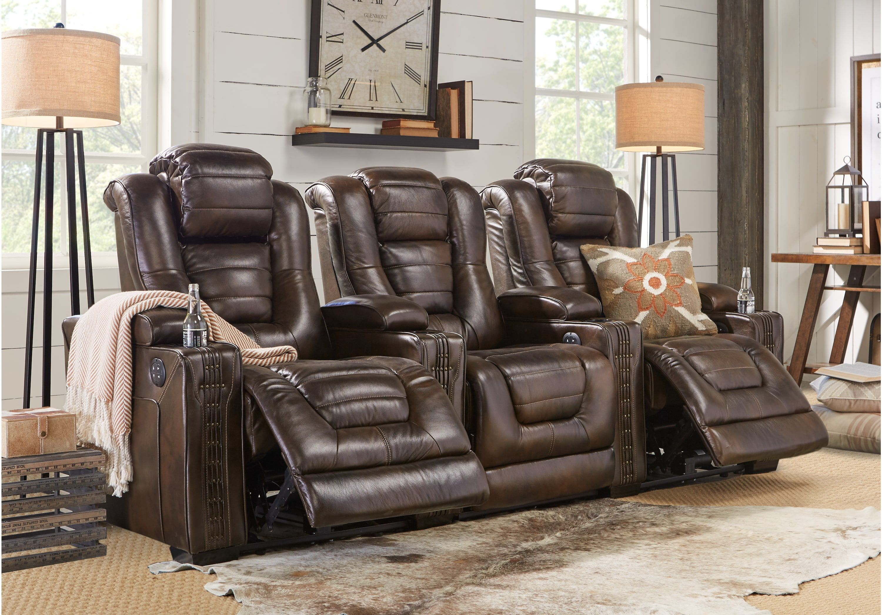 Tremendous Eric Church Highway To Home Renegade Brown Leather 3 Pc Uwap Interior Chair Design Uwaporg