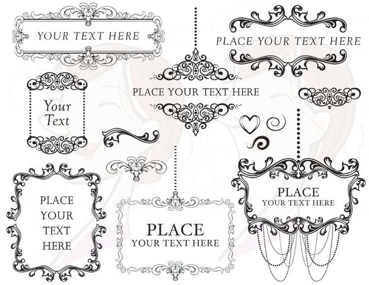 victorian frame design. Vintage Victorian Frames Chandelier Black Ornate Frame Clip Art Silhouette Antique Classic Design DIY Bridal Shower E