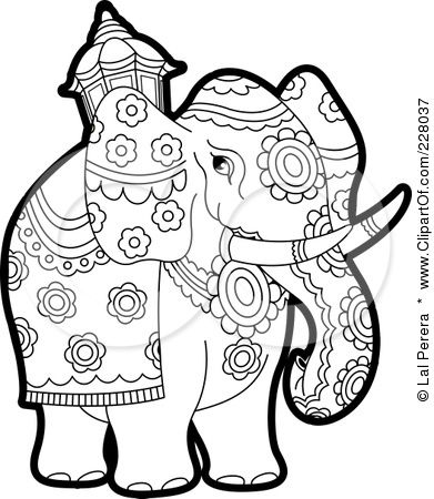 elephant outline image   Mandalas & Such   Pinterest   Repujado ...