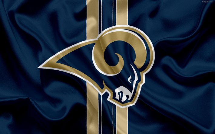 Download Wallpapers Los Angeles Rams American Football Logo Emblem Nfl National Football League Los Angeles California Usa National Football Conference Los Angeles Rams Los Angeles Rams Logo American Football