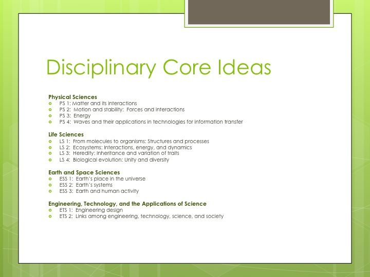 Disciplinary Core Ideas | NGSS | Pinterest | Ideas