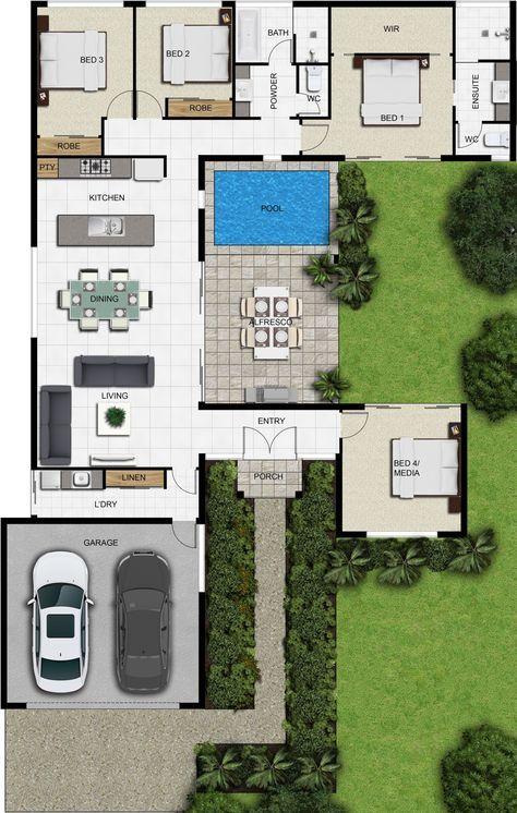 Cassia custom floor plans  house dream modern also autocad in pinterest and rh