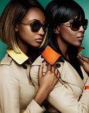 Naomi Campbell e Jourdan Dunn por Mario Testino para Burberry Eyewear