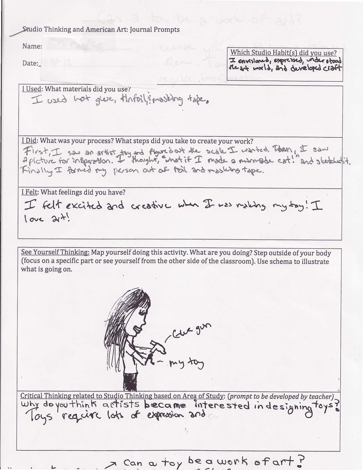 Student Reflection Every Art Every Child