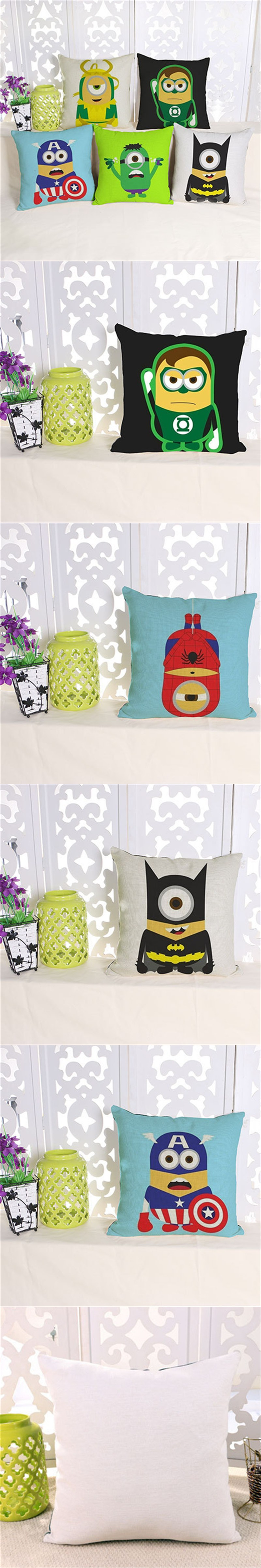 Creative Personality Is A Small Yellow People Cotton Pillow Pad Cushion Home Furnishing Modern Minimalist Office Decoration $8.99