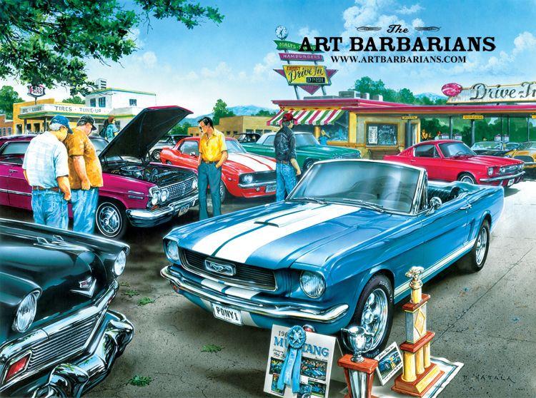 Car Show Classic Cars By Dan Hatala Artbarbarians Com Art I
