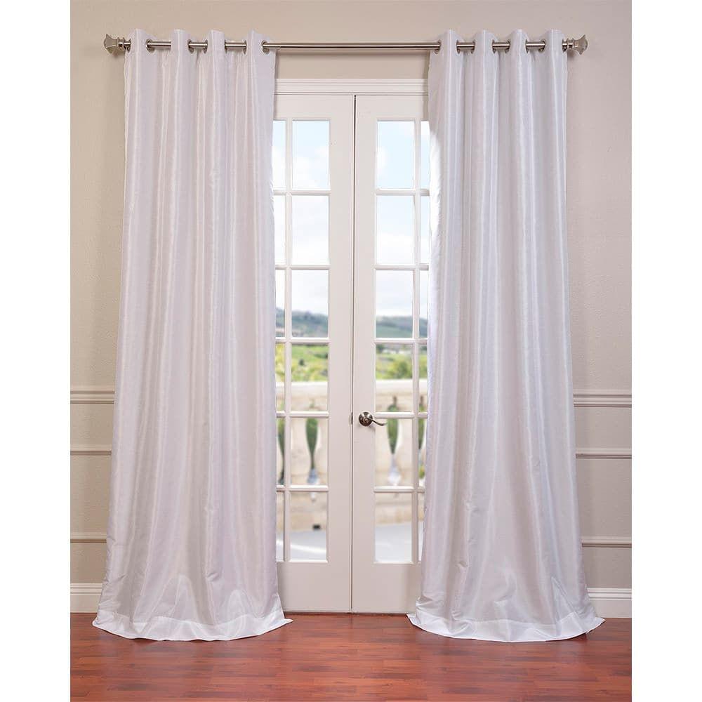 Exclusive Fabrics Textured Dupioni Faux Silk 108 Inch