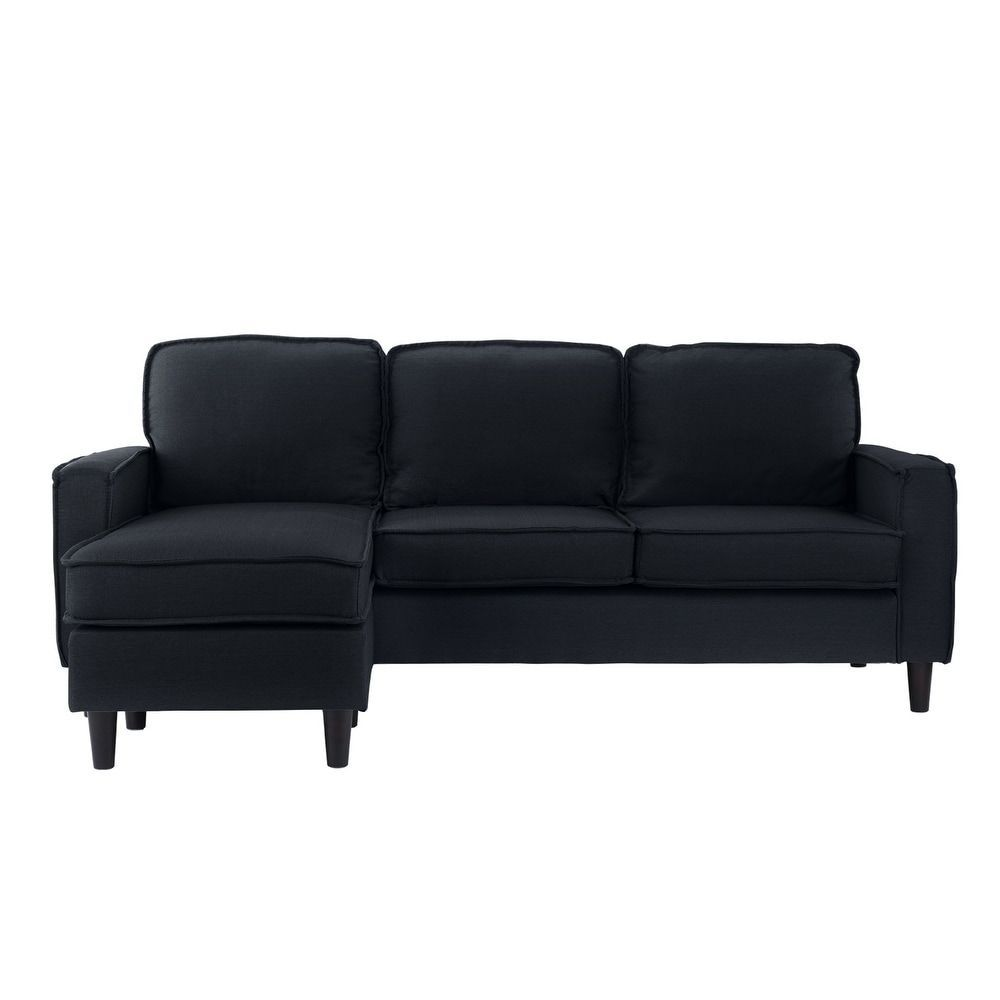 small es configurable sectional sofa black softline cord bed contemporary dark grey linen