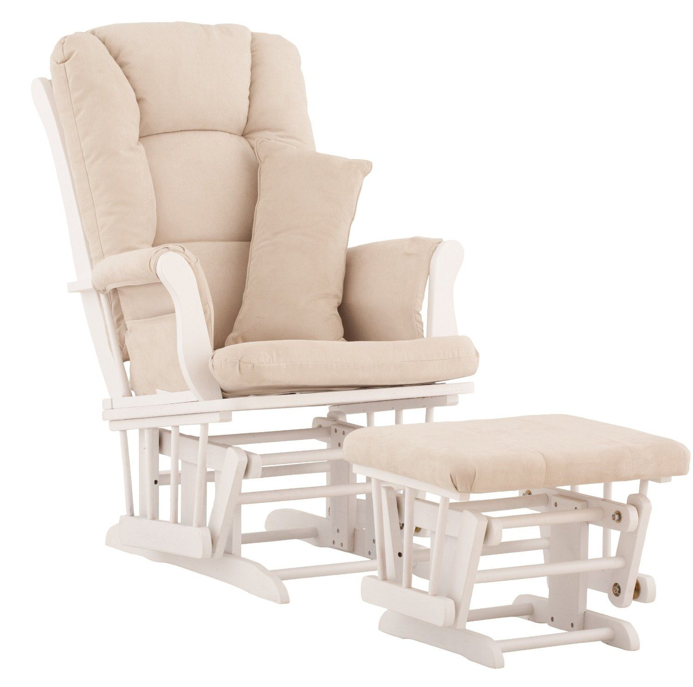 white nursery chair with ottoman