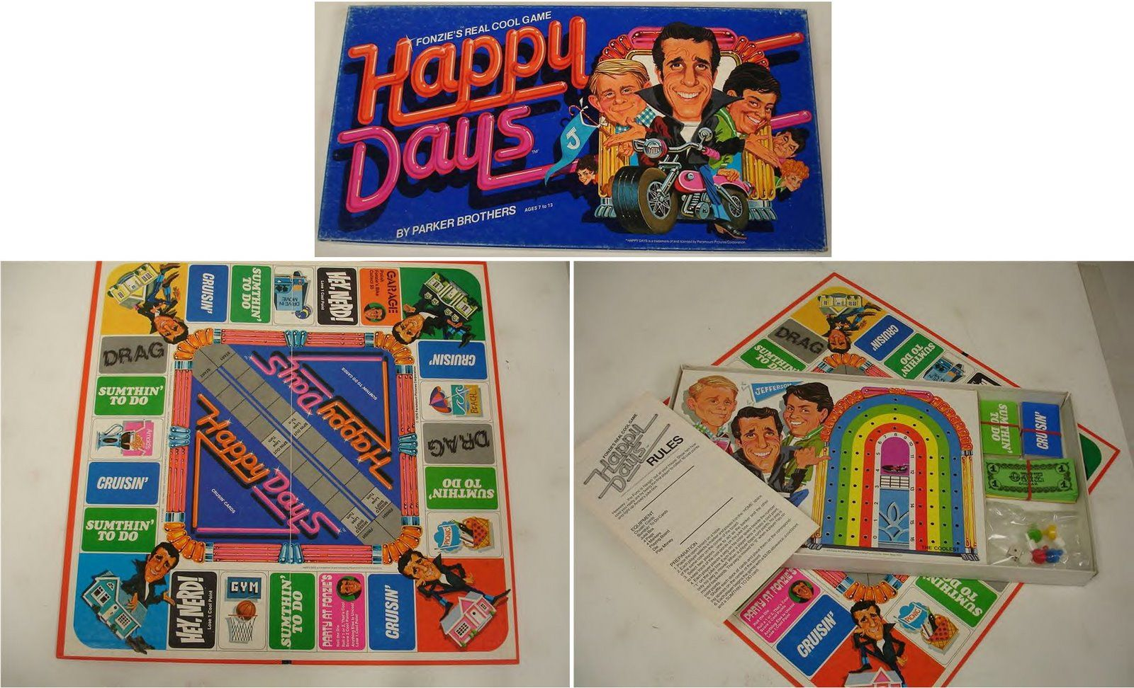 Happy Days board game 1976 I loved playing this when I
