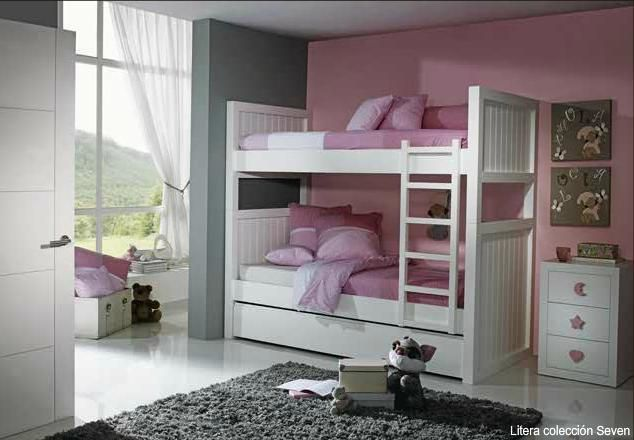 Camas literas dormitorios juveniles habitaciones - Habitaciones juveniles literas ...