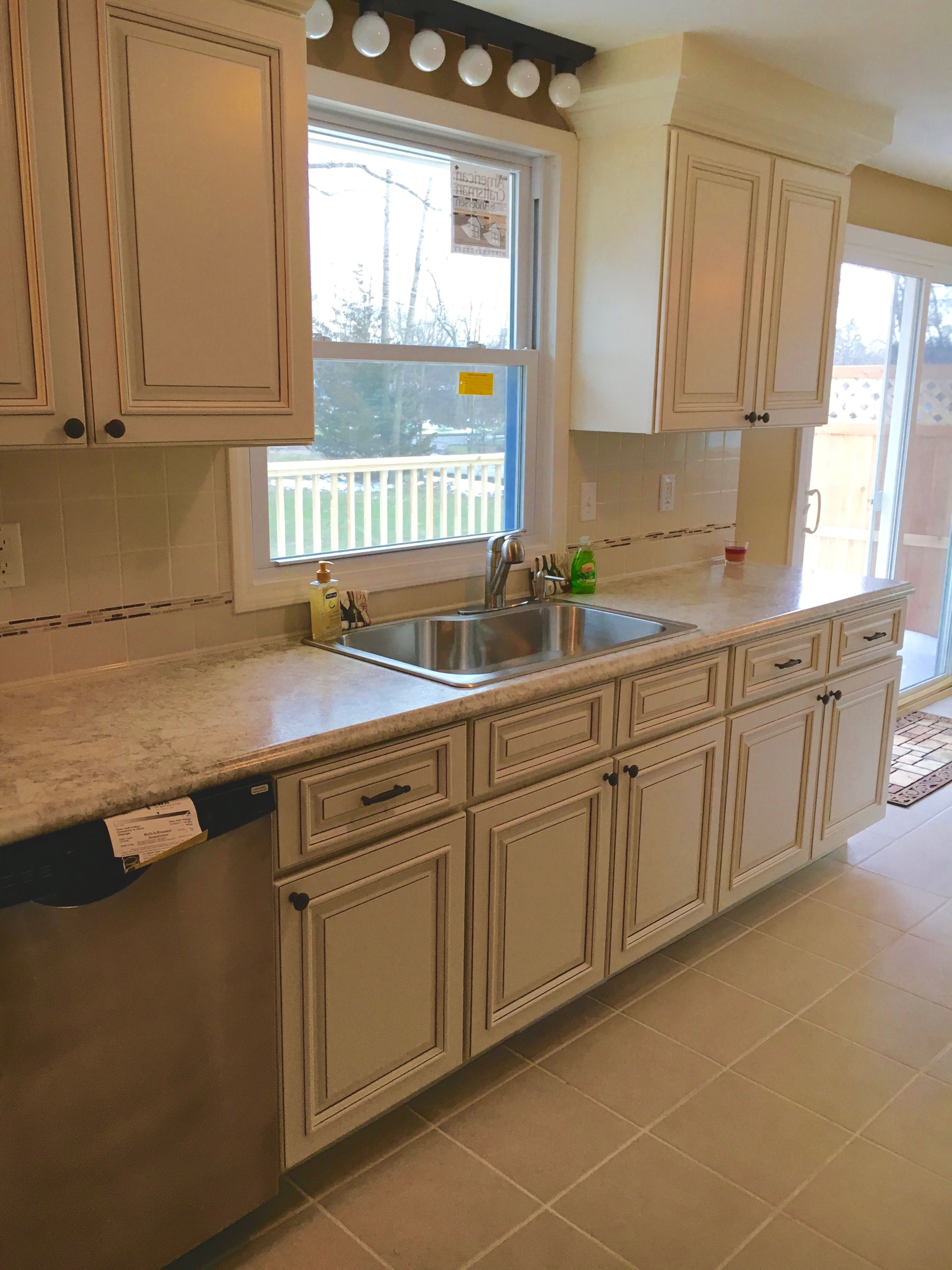 Kitchen Island Clearance Sale Custom Cabinets Bought On Clearance Created An Elegant Look For An