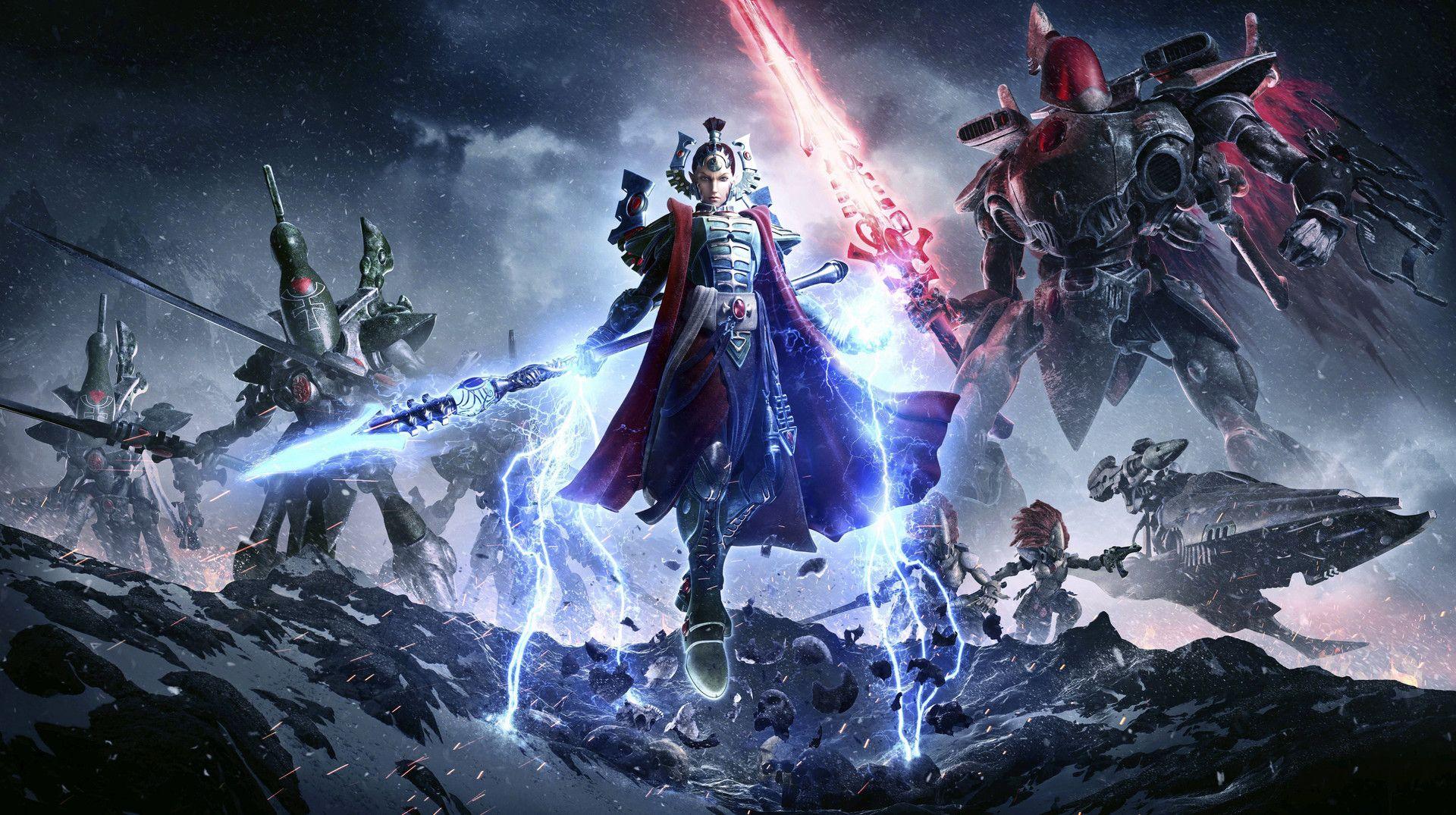 ArtStation - Warhammer 40k: Dawn of War 3 - Eldar Key Art, Petur Arnorsson  | Warhammer 40k, Warhammer, Warhammer eldar