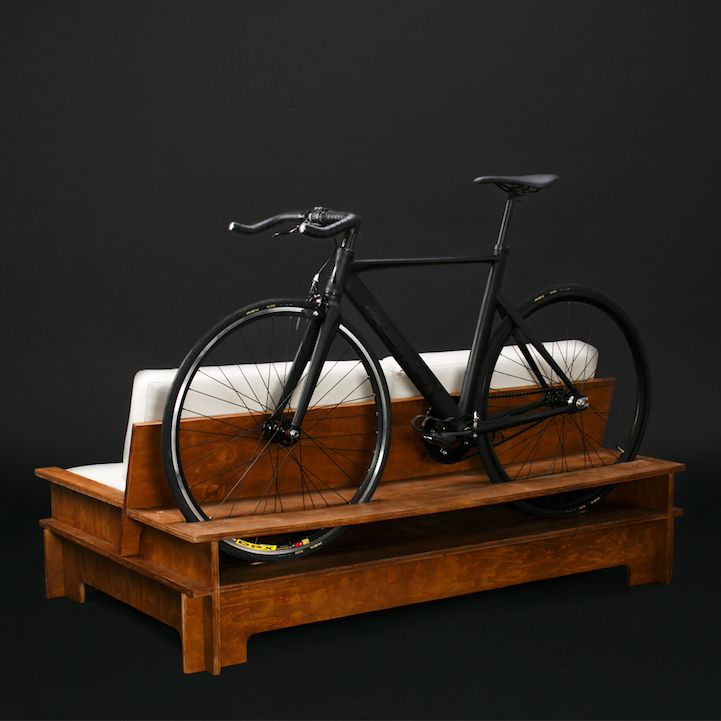 Clever Furniture Designed To Double As Bike Rack To Save Space In Small  Apartments