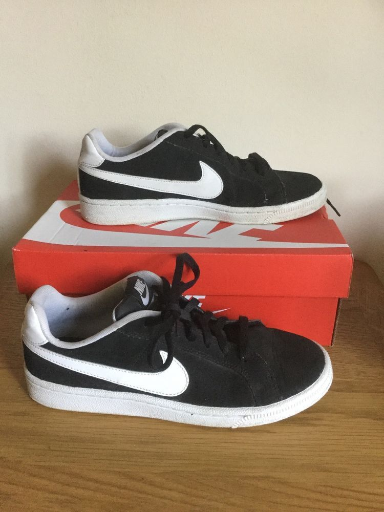 cheap for discount 5adec 6bffc NIKE COURT ROYALE LOW BLACK TRAINERS SNEAKERS UK 5 EU 38 SHOES UNISEX  JUNIOR   eBay