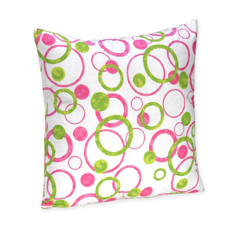 Sweet Jojo Designs Circles Pink Collection Decorative Pillow, Multi