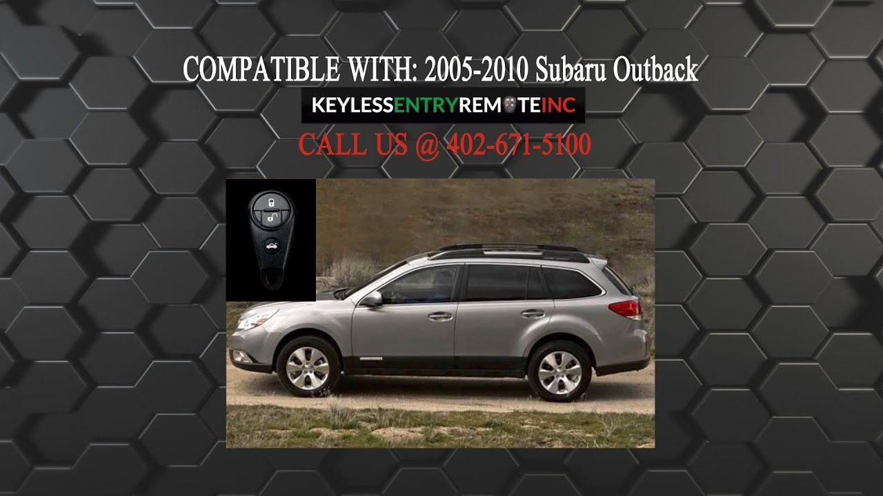 How To Replace A Subaru Outback Key Fob Battery 2004 2010