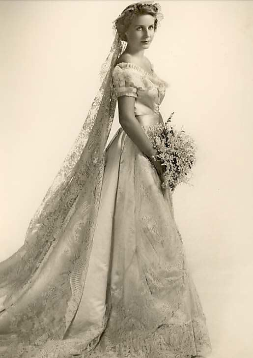 Vintage Brides — 1950\'s model wearing a gown from 1866 Collection ...