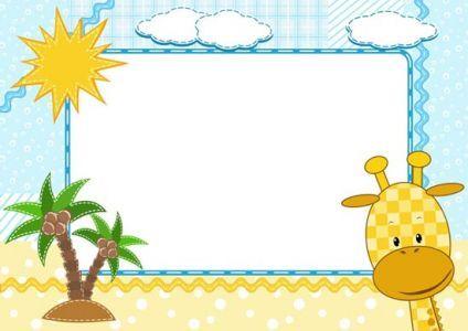 Cartoon frames with baby animals vectors :) | MESAJ PANOLARI ...