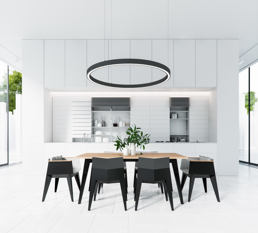 White Dining Room In 2020 Minimalist Dining Room Dining Room