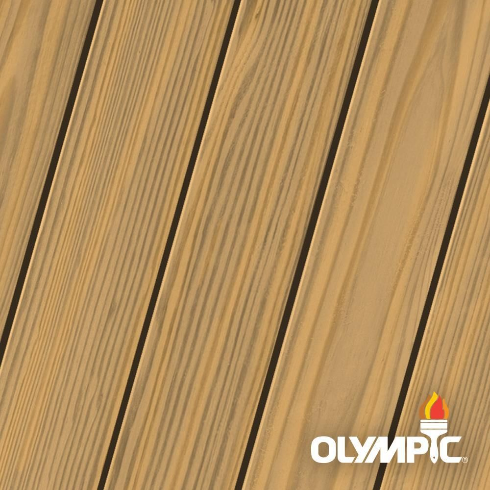 Olympic Maximum 1 Gal Desert Sand Semi Transparent Exterior Stain And Sealant In One Low Voc Oly933 01 The Home Depot Exterior Stain Staining Wood Exterior Wood Stain