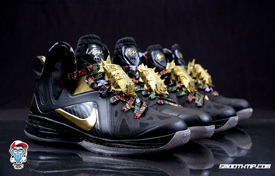 buy popular 39166 bcfca Nike LeBron 9 Elite Watch The Throne Customs by SmoothTip