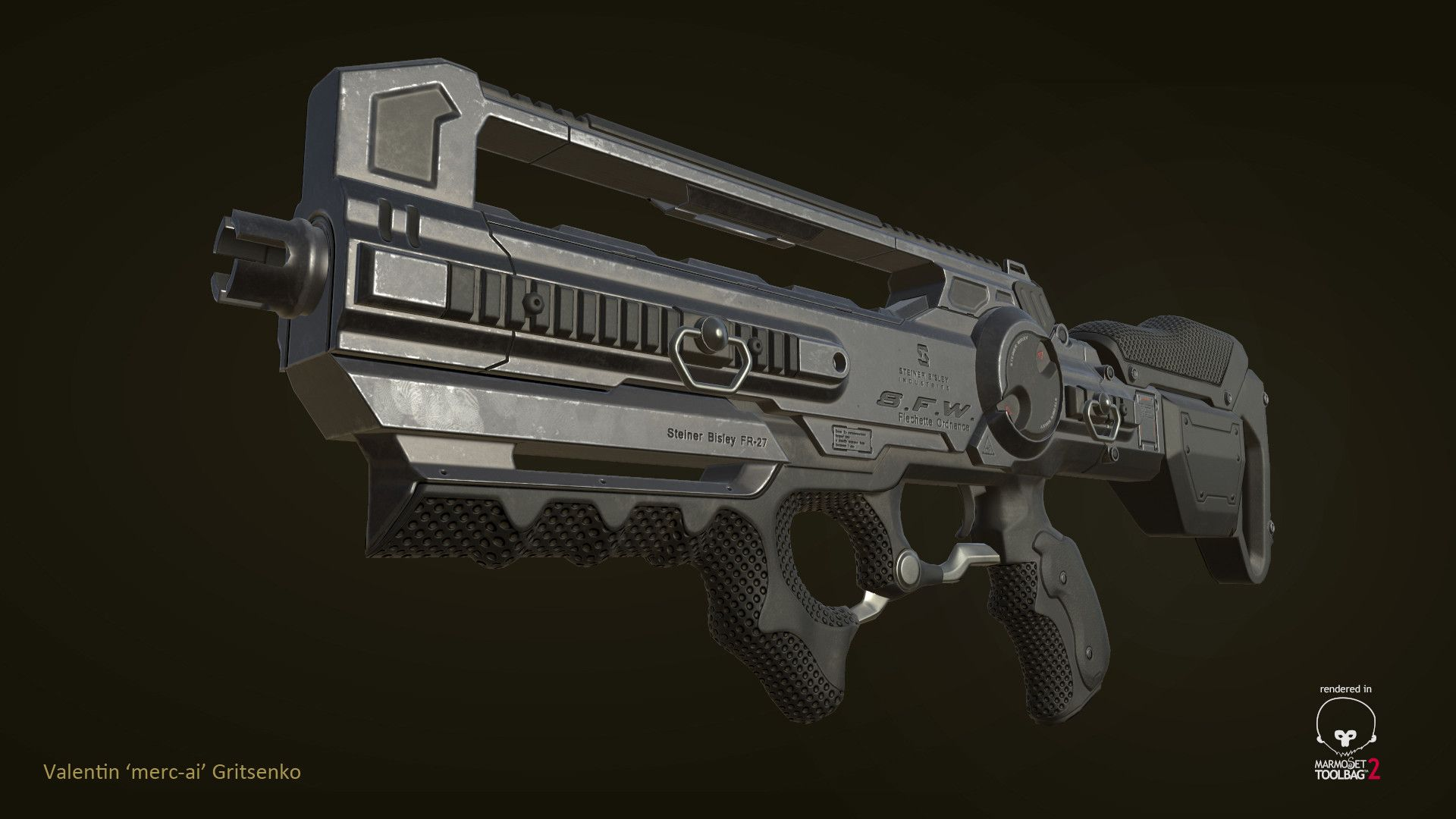 ArtStation - FR-27 Sanction rifle (Deus Ex: Mankind Divided fan art), Valentin Gritsenko