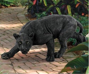 Life Size Black Panther Garden Statue