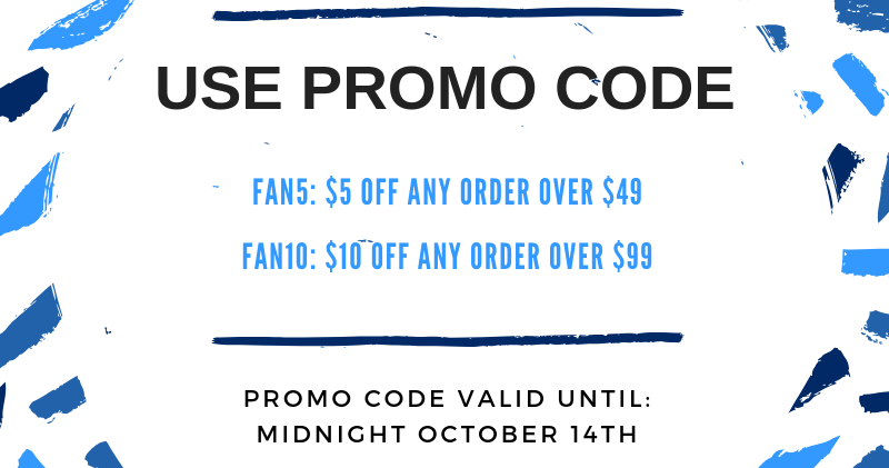 Please use promo code: FAN5: $5 off any order over $49 FAN10: $10 off any order over $99 #TickPick #SmartFan #Promo #NoFees