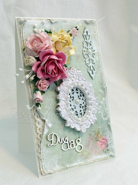 RANDI'S LITTLE BLOG: DT Wild Orchid Crafts - Shabby Chic Card