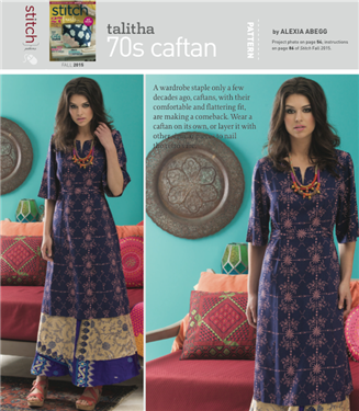 TALITHA 70\'S CAFTAN: Free Sewing Pattern | Caftans, Sewing patterns ...