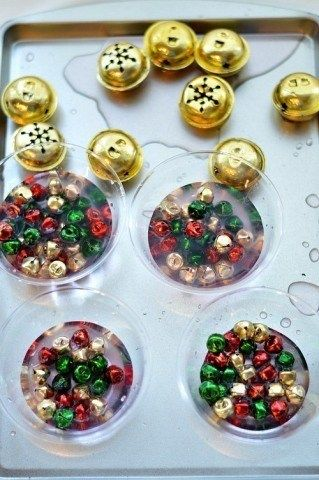 Christmas Sensory Activities with bells and water