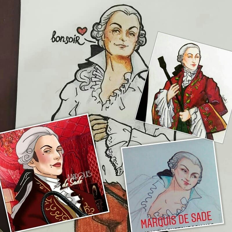 Margali N Ha Ysabet On Instagram On This Day I Want To Share The Art About Marquis De Sade By Some Friends On Instagram They Got A Special Place On My Galler