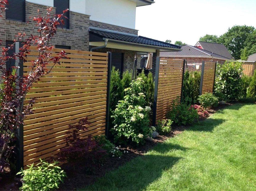 Gartenzaun Mit Sichtschutz Zaun Bei Hornbach Kaufen Garten Ideen Aus Holz Kunststoff Oder Metall Privacy Plants Garden Privacy Garden Privacy Screen