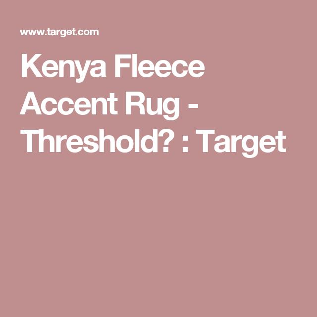Kenya Fleece Accent Rug - Threshold™ : Target