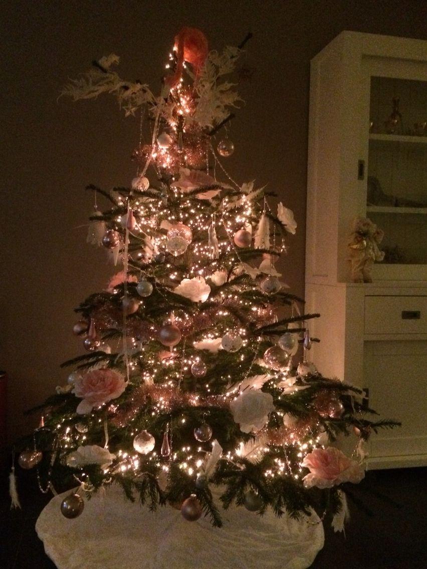 Kerstboom wit/roze