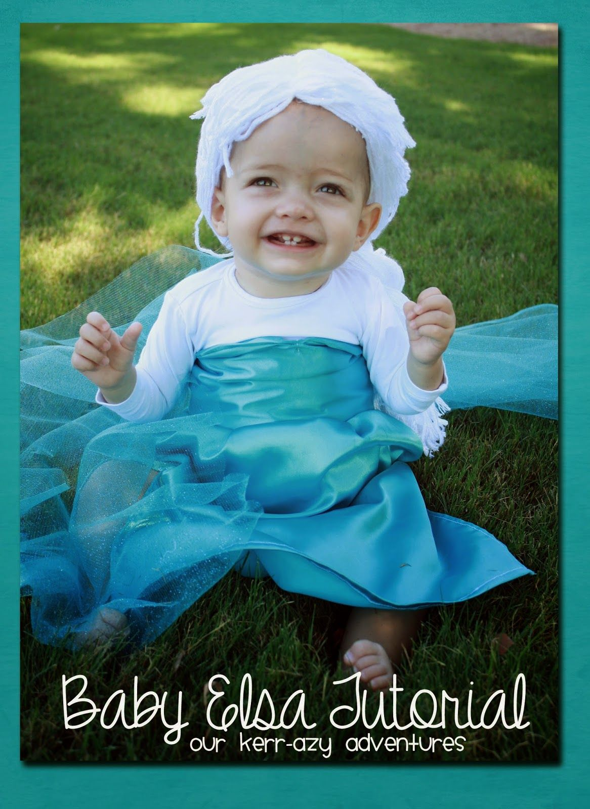 Baby Elsa Costume Tutorial - Our Kerrazy Adventure  sc 1 st  Pinterest & Baby Elsa Costume Tutorial | Costume tutorial Elsa and Costumes