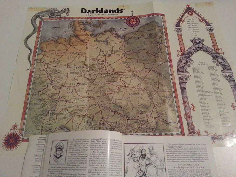 Darklands for PC IBM big box and collector's notes - Abandonware DOS