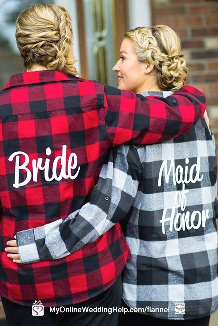 Rustic Oversized Bride and Maid of Honor, Bridesmaids Shirts   Wedding Products from MyOnlineWeddingHelp.com