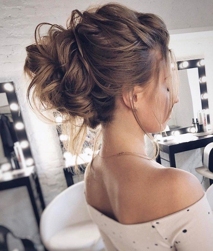 Loose Updos Pretty Messy Wedding Updo Hairstyle Updo Hairstyle Messy Wedding Hairstyles For Wedding Hair Inspiration Hair Styles Updos For Medium Length Hair