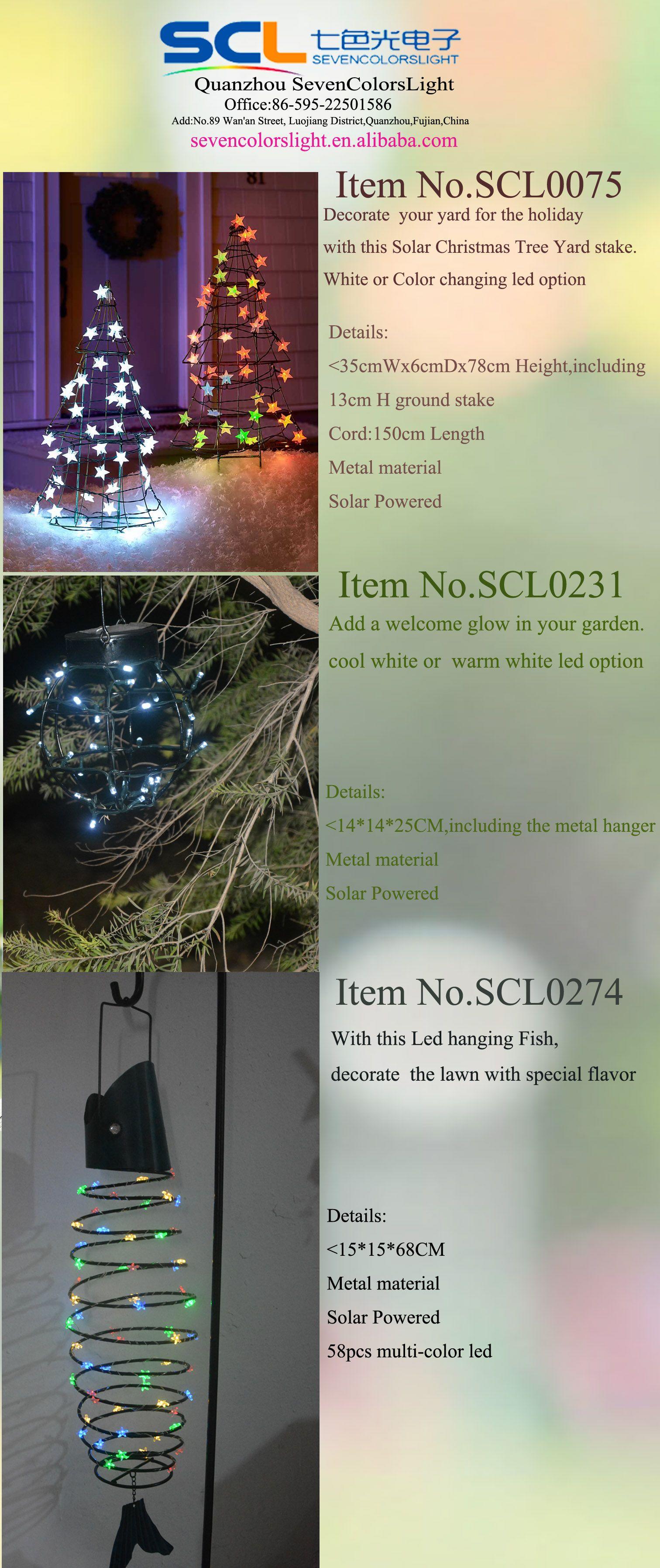 Christmas Yard Metal Tree Metal Lantern Led Hanging Fish With Images Christmas Tree Yard Stakes Solar Christmas Tree Metal Tree